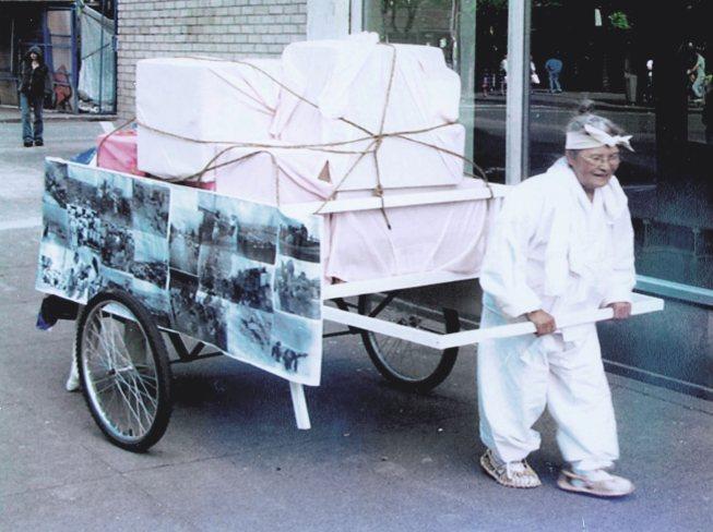 Ilsoo and cart