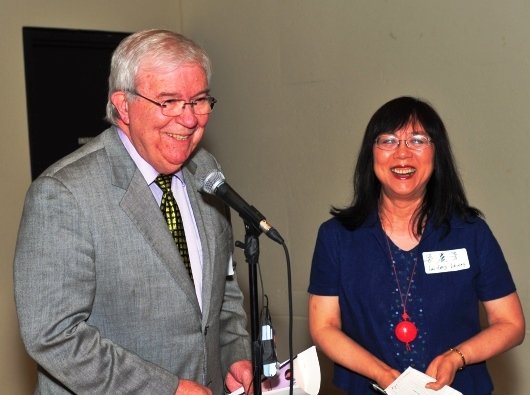 Emcees Drs. Jan Walls and Lai Fong Leung